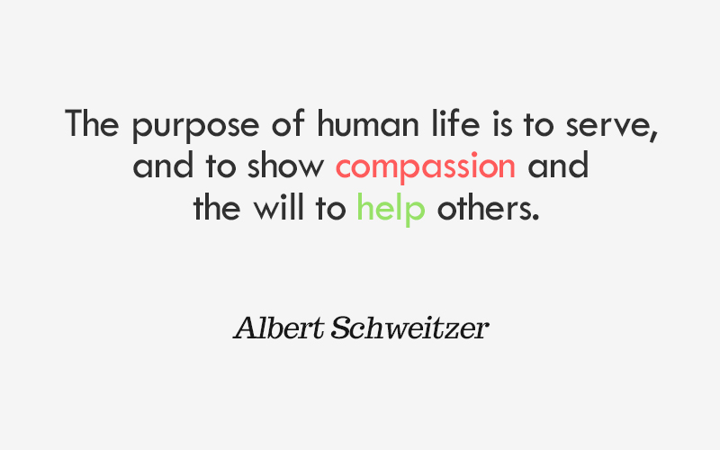 compassion and help